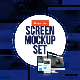 Responsive Screen All Device Mockup Pack
