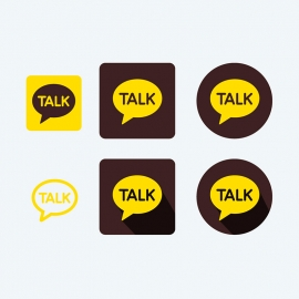 KakaoTalk Messenger Vector Icons