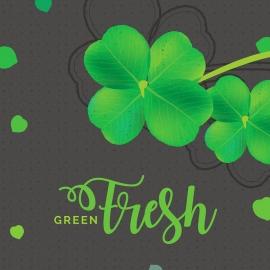Green Leaves Decorative Design Elements