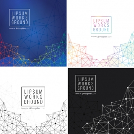 Geometric & Polygon Abstract Background Set