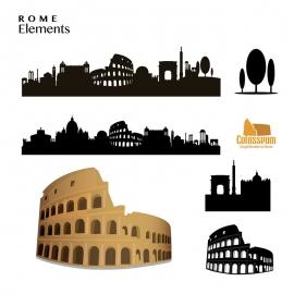 Rome Elements Skyline & Colosseum Amphitheatre