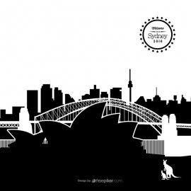 Sydney Skyline Cityscape Vector