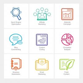 SEO Line Icons v1
