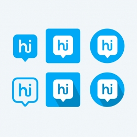 Hike Messenger Vector Icons