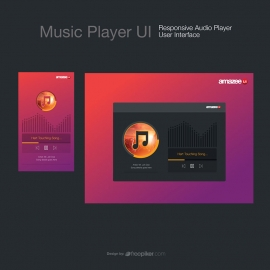 Music Player UI  Responsive Audio Player User Interface