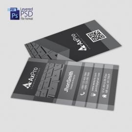 Black Color Business Card