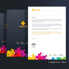 Colorful Creative Corporate Letterhead