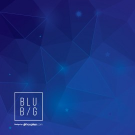 Deep Blue Creative Background with Geometric Shape