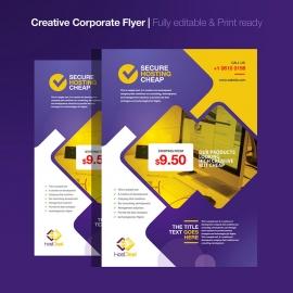 Hosting Server Studio Corporate Flyer