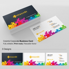 Colorful Creative Corporate Business Card