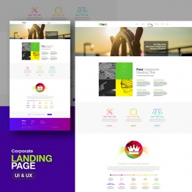 Corporate Website Landing Page UI & UX Design