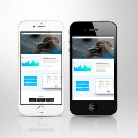 Responsive Smartphone Mobile Screen Mockup White & Black
