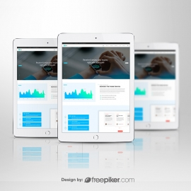 White Tablet Responsive Screen Mockup