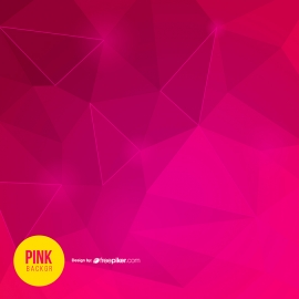 Creative Pink Background with Polygon Shape
