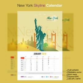 New York Skyline Travel Calendar