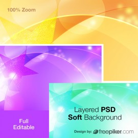 Abstract Layered PSD Soft Background