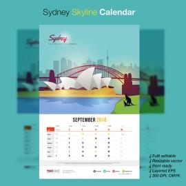 Sydney Skyline Travel Calendar