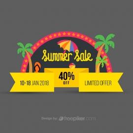 Summer Sale Discount Offer Conceptual Banner