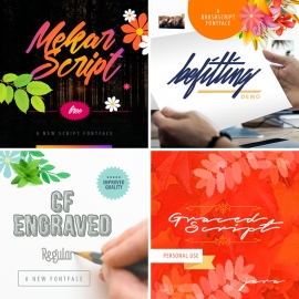 Font Preview Design Mockups Pack