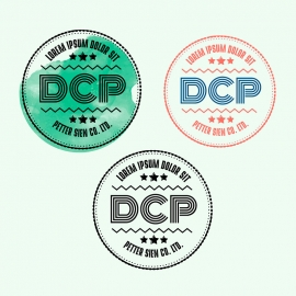 Corporate Circle Rubber Stamp & Retro Seal