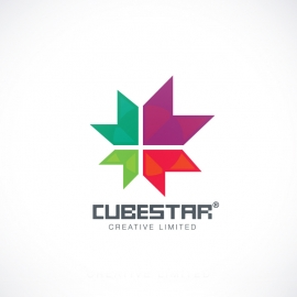 Creative Cube Star Abstract Logo