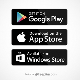 Google Play AppStore Windows Store Icon