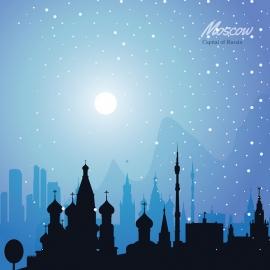 Moscow Skyline Travel Vector