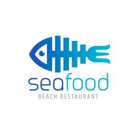 Sea Food Beach Restaurant Fish & Fork Logo