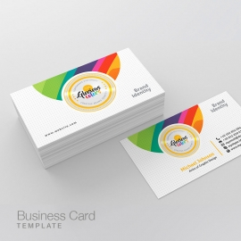 Glorious Colorful Creative Business Card