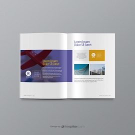 Brochure & Booklet PSD Mockup