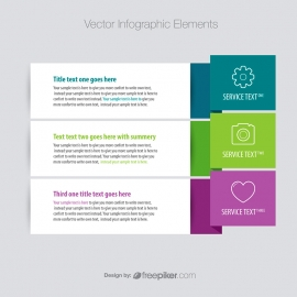Simple Banner Style Infographic Elements