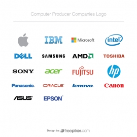 World Top Computer Technology / Producer Companies Logo