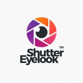 Camera Shutter & Eye Logo