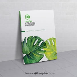 Brochure & Book Cover Mockup