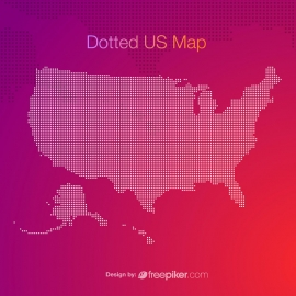 Dotted US Map
