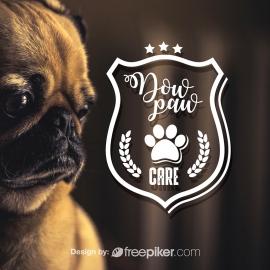 Animal Care Retro Badge Logo
