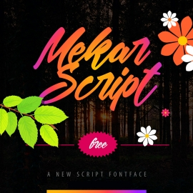 Font Preview Dark Design Mockup Template
