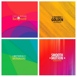 Colorful Vector Background Set