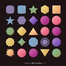 Vector Shapes Set for Banners Icons Logos & Badges