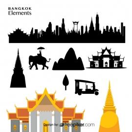 Bangkok Elements Skyline & Template