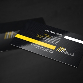Corporate Minimal Dark Business Card