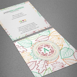 Square Leaf Business Card