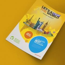 World Travel Flyer Travel & Tour Agency Flyer