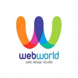 Web World Creative Colorful Logo