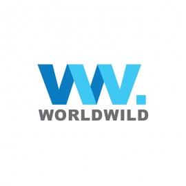 World Wide WW Letter Travle Agency Logo