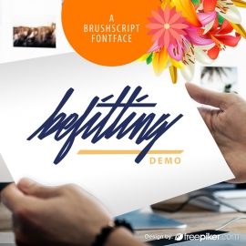 Script Font Preview Mockup Design Elements