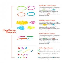 Handdrawn Specification Circle Highlishts Marker Underline & Odds  Ends Elements
