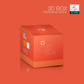 Realistic 3d box Photoshop action