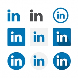 Linkedin Social Media Icon Vector Icons