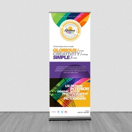 Creative & Glorious Colorful Rollup Corporate Banner